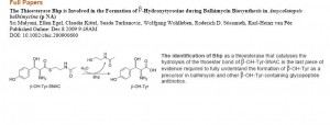 The Thioesterase Bhp is Involved in the Formation of -Hydroxytyrosine during Balhimycin Biosynthesis in Amycolatopsis balhimycina
